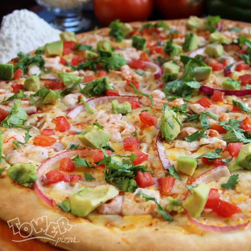 Pizza Aguachile Tower Pizza
